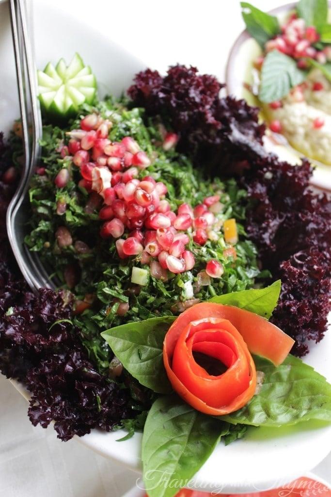 Baytna Barouk Restaurant Lebanese Tabbouleh Food