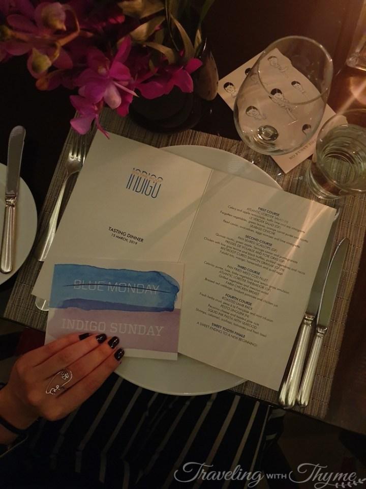 Le Gray Beirut Indigo Restaurant Menu