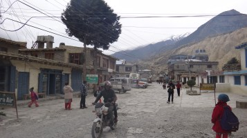 the streets of Jomsom