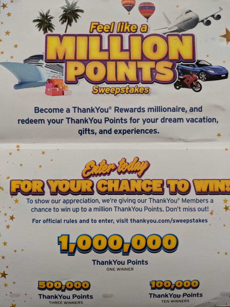 Million Citi Thank You Points Sweepstakes Feel Like A