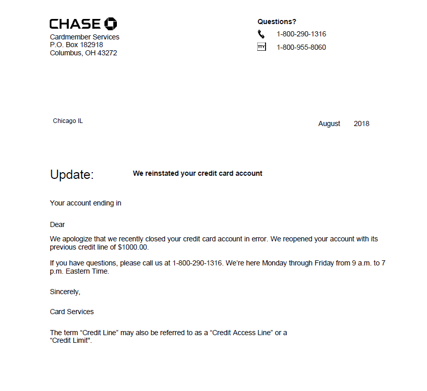 reopen bank account sample letters