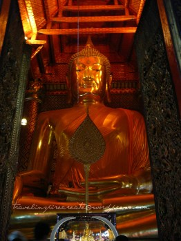 Big sitting buddha in Ayuthaya (Thailand)