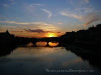 Bridge silhouette in Florence (Italy)