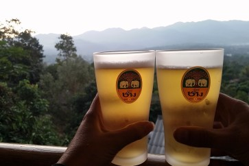 Beers in Pai on the Mae Hong Son Loop