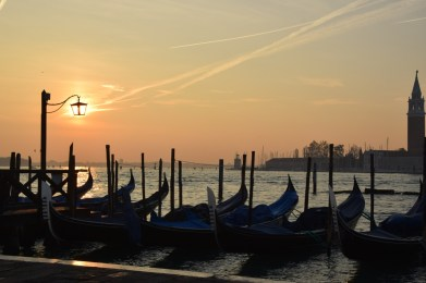 Italy Travel Guide: Piazza San Marco Gondolas at Sunrise