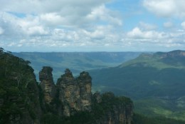 Blue Mountains. See them when you've got an Australian Working Holiday Visa