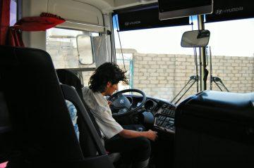 Jazda z Omanu do Jemenu, nasz autobus (4)