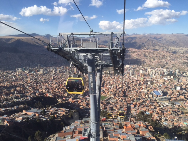 On the cable car