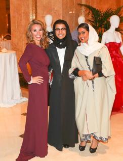 Amanda Gutkin, Noora Al Kaabi and Alia Al Qassimi at Style.com/Arabia and Farfetch Event