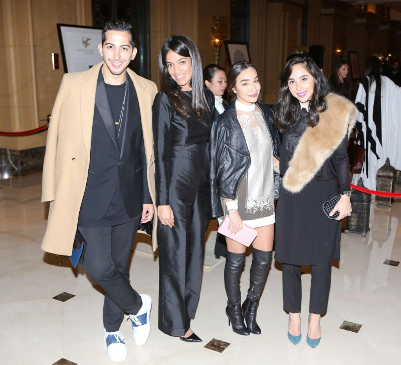 Mahmoud Sidani, Maha Abu Rasheed and Lina Mustafa-Dana Hourani at Style.com/Arabia and Farfetch Event