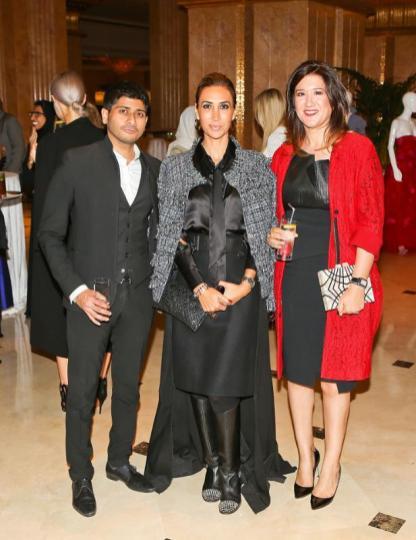 Shashi Menon, Nadine Kanso and Nez Gebreel at Style.com/Arabia and Farfetch Event