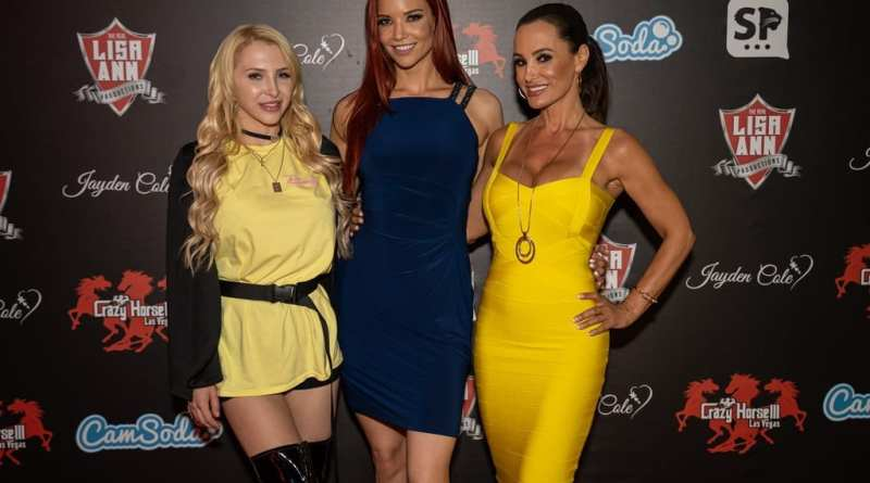Alix Lynx, Jayden Cole and Lisa Ann on Crazy Horse 3 Red Carpet