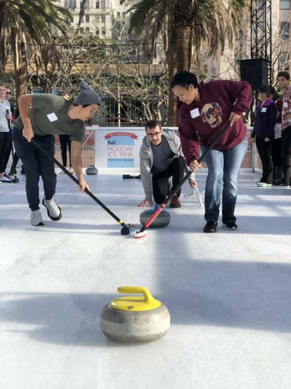 Bai Holiday Ice Rink Pershing Square - Hollywood Curling