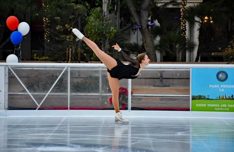 Bai Holiday Ice Rink Pershing Square - OPENING DAY CALIF GOLD SKATING TEAM