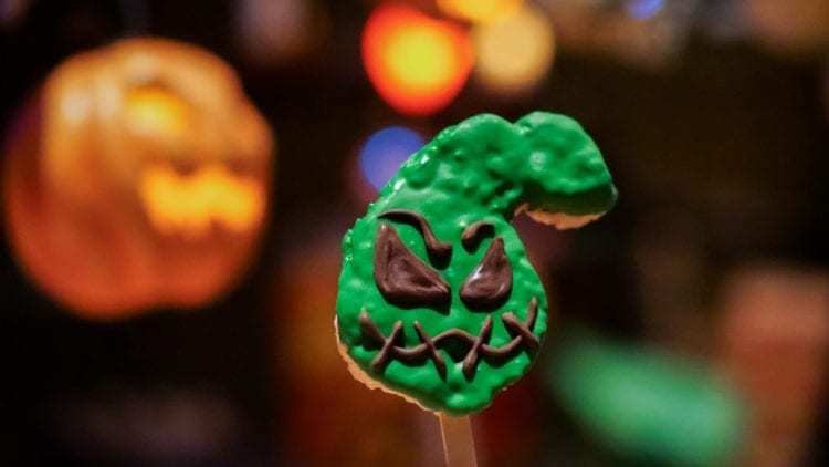 Halloween Time Treats – Oogie Boogie-Inspired Rice Crisped Treat