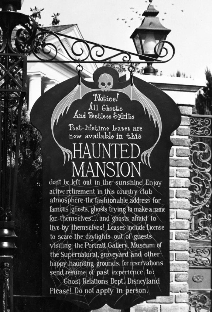 Haunted Mansion Notice