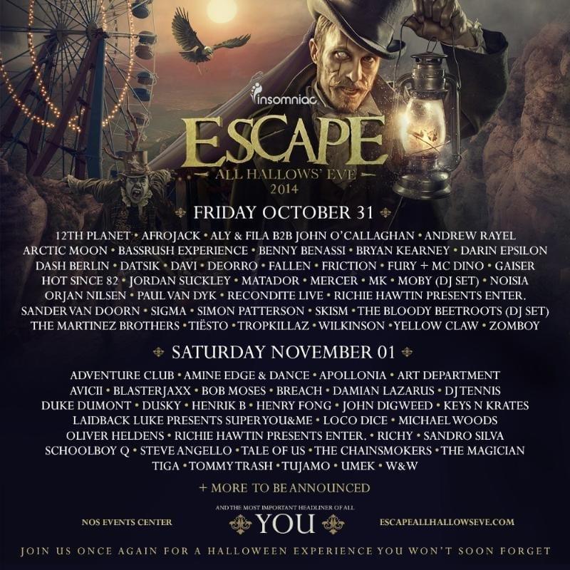 Insomniac 4th Annual Escape All Hallows' Eve
