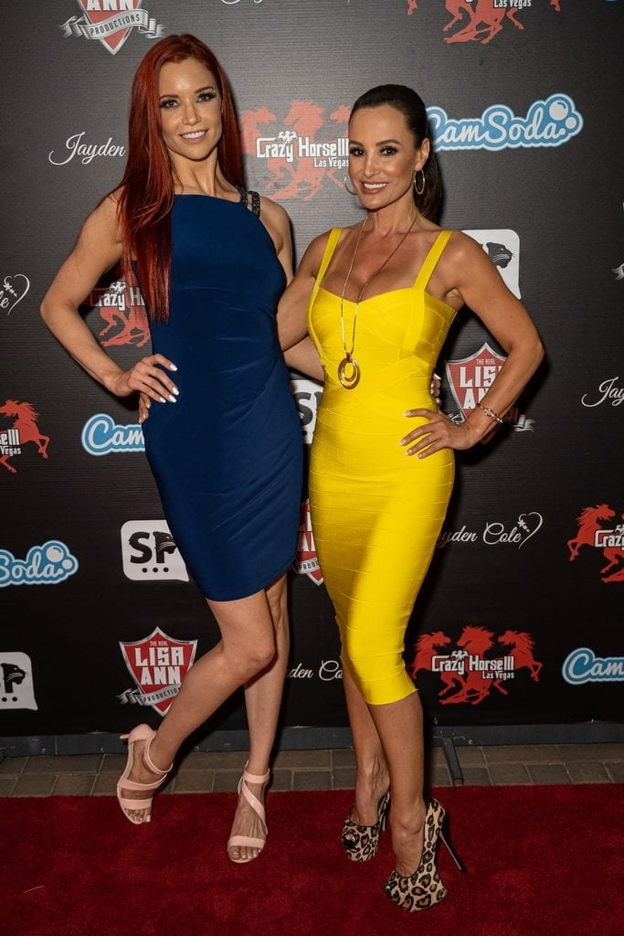 Jayden Cole and Lisa Ann on Crazy Horse 3 Red Carpet