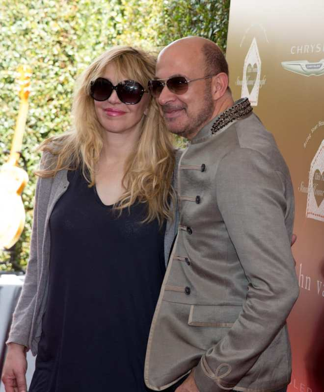John Varvatos and Courtney Love at John Varvatos 11th Annual Stuart House Benefit