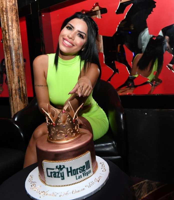 Larissa Lima with Cake