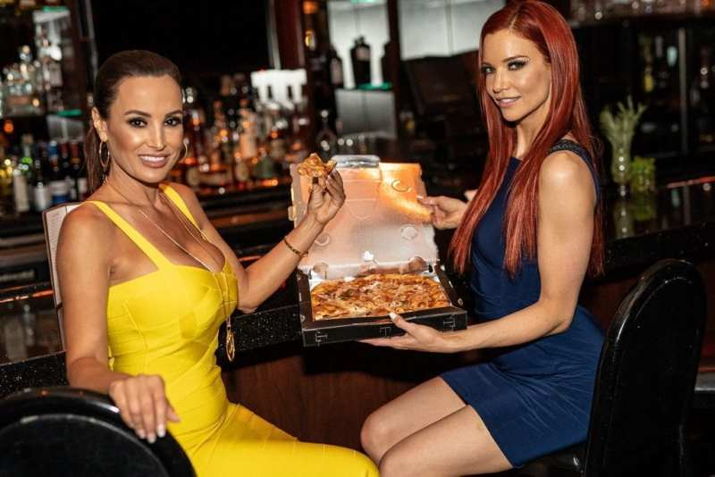Lisa Ann and Jayden Cole Eating Crazy Horse 3 Pizza