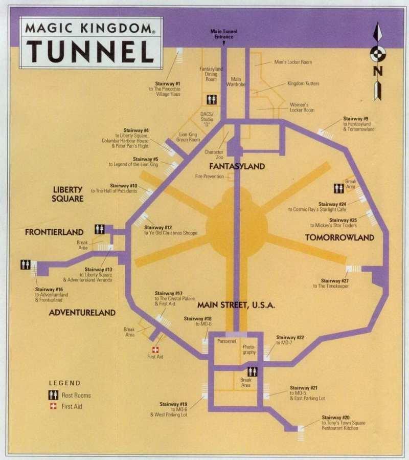 Magic Kingdom Tunnel Map