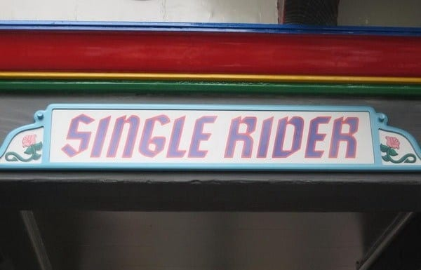 Single Rider Line