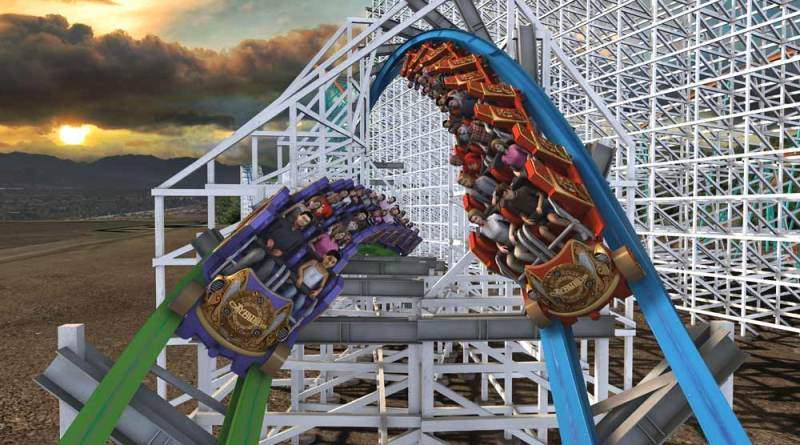 Six Flags Magic Mountain - Twisted Colossus