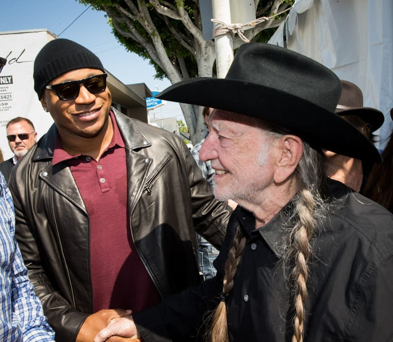 Willie Nelson and LL Cool J at John Varvatos 11th Annual Stuart House Benefit