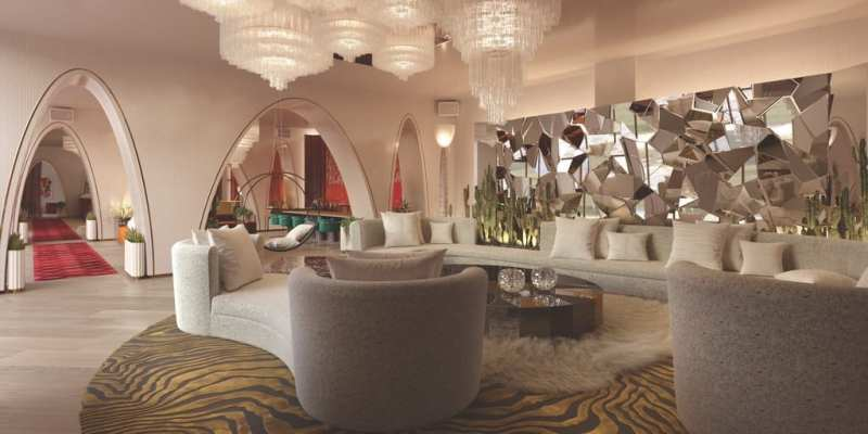 Virgin Hotels Las Vegas - Harmon Lobby Lounge courtesy of Rockwell Group