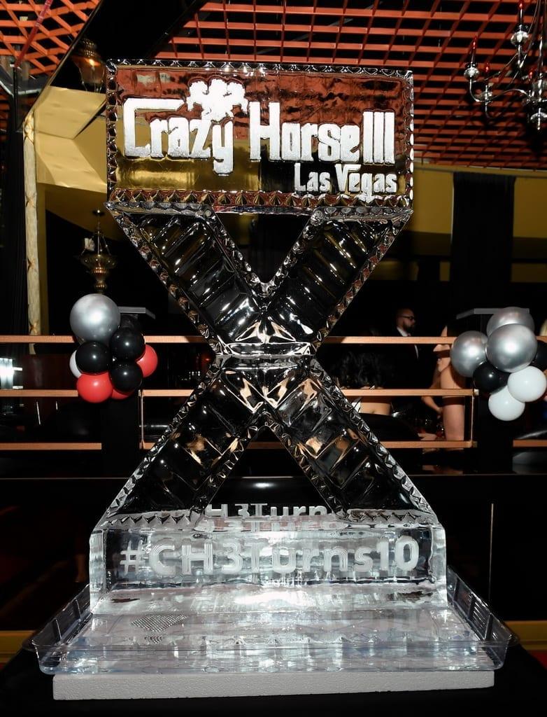 Crazy Horse 3 10 Year Anniversary Ice Sculpture