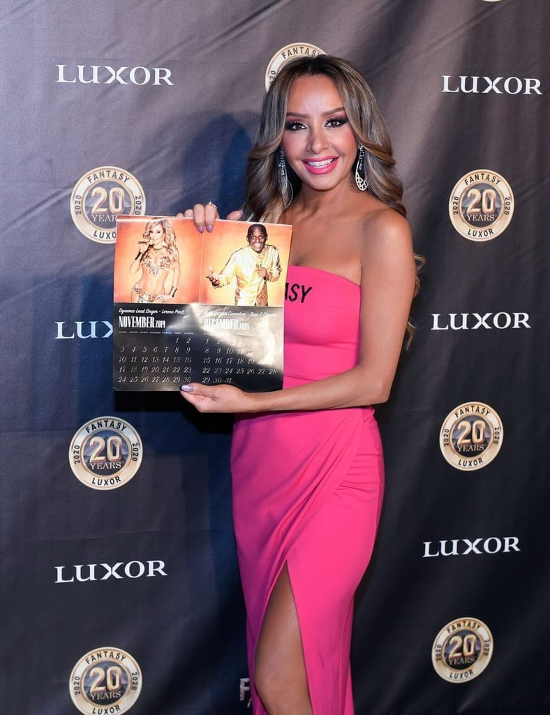 Lorena Peril with Calendar