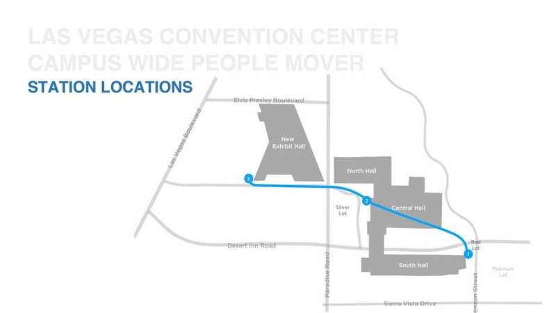 The Boring Company People Mover Map