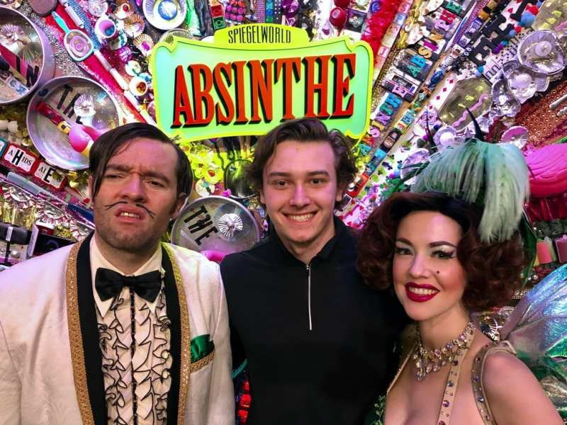 Cody Glass Attends Absithe