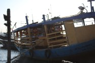Anchored Jetty boat