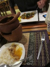Curry in a pot at Rabeang