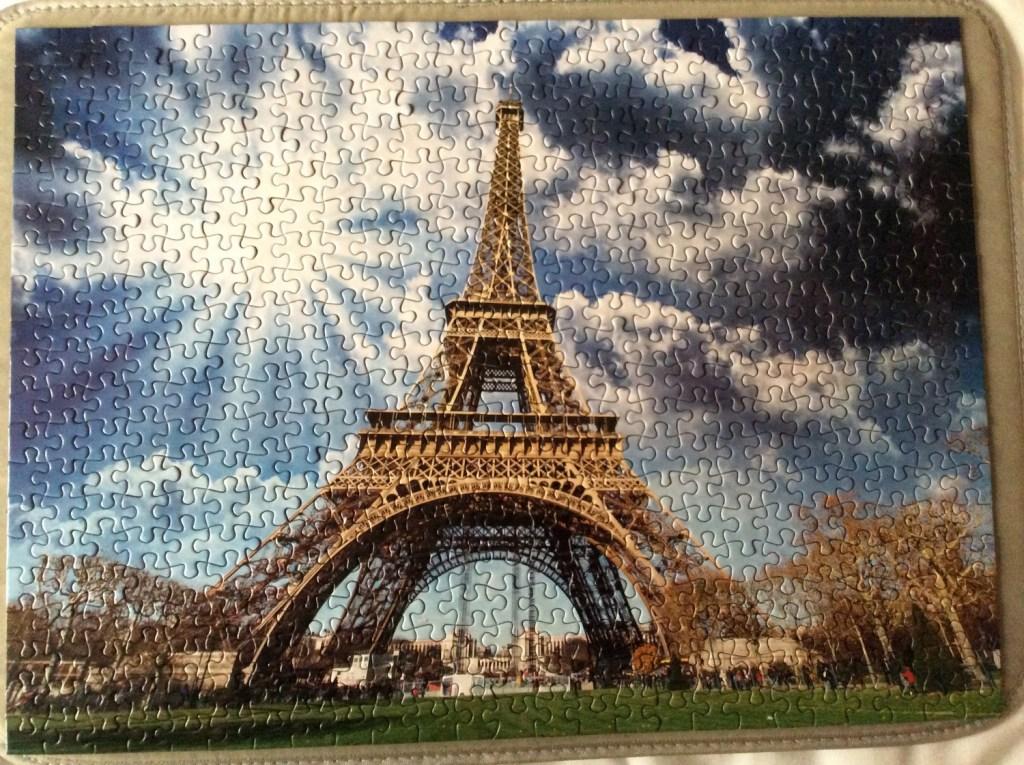 Jigsaw of the Eiffel Tower; from a travel blog by www.traveljunkiegirl.com