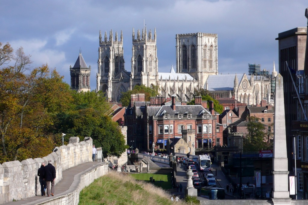 York Minister from the city walls - A fabulous way to approach the Minster!