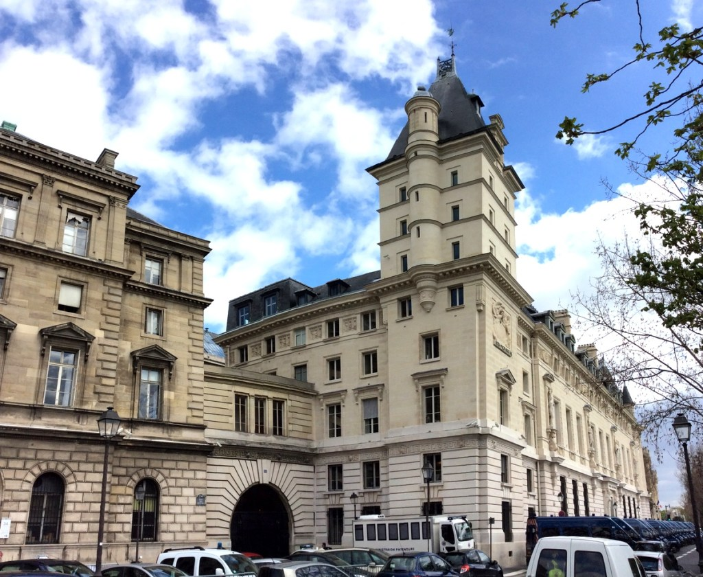 The southern side of the Palais de Justice, Île de la Cité, Paris; from a travel blog by www.traveljunkiegirl.com