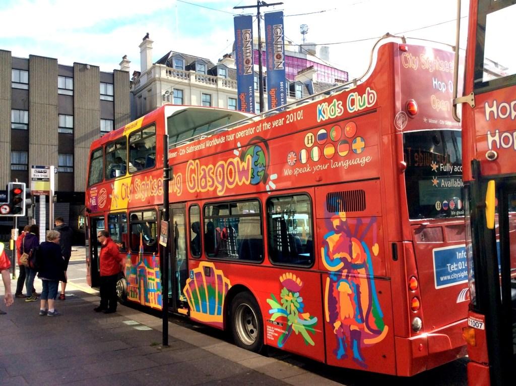Glasgow Sightseeing Bus Tour; from a travel blog by www.traveljunkiegirl.com