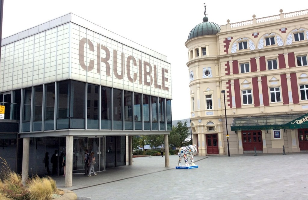 Sheffield's 'Theatre District': the Crucible and the Lyceum; from a travel blog by www.traveljunkiegirl.com