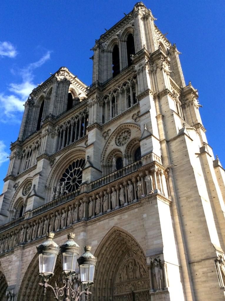 Notre-Dame's mpressive towers, Paris, from a travel blog by www.traveljunkiegirl.com