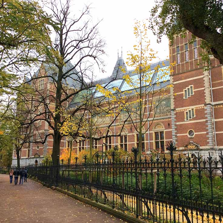 The Rijksmuseum in Autumn, Amsterdam; from a travel blog by www.traveljunkiegirl.com