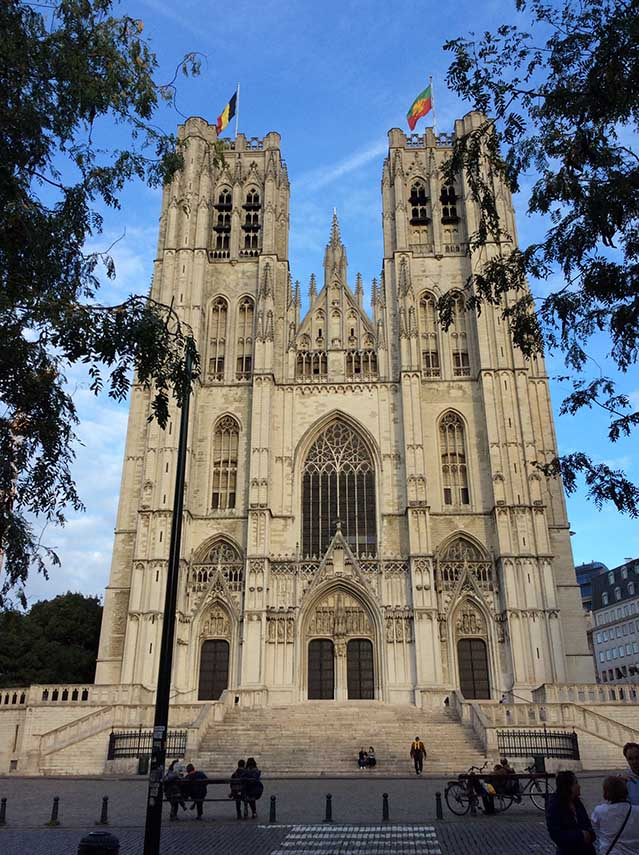 Cathedral of St Michel & St Gudule in Brussels, Belgium; from a travel blog by www.traveljunkiegirl.com
