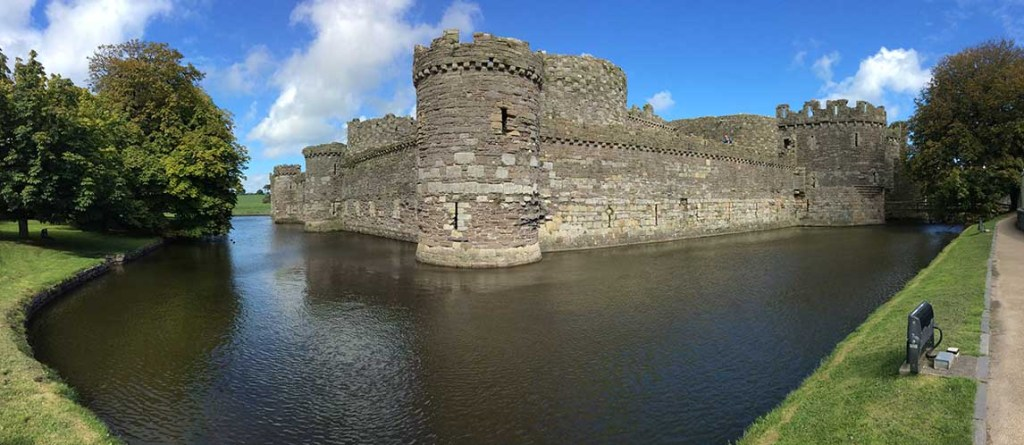 Beaumaris Castle in North Wales, from a travel blog by www,traveljunkiegirl.com