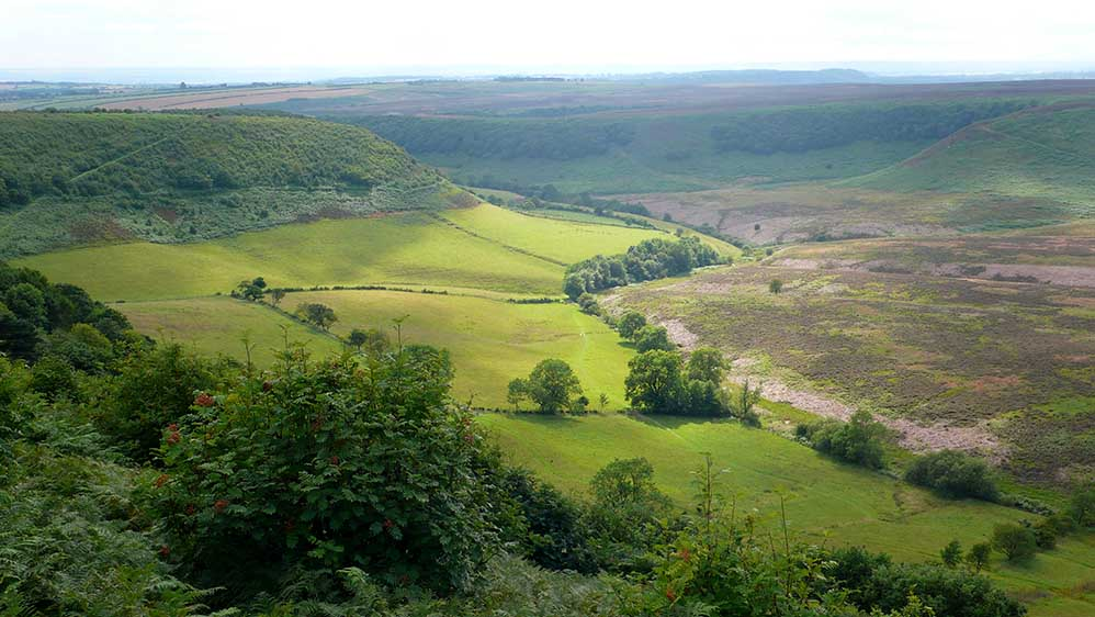 The Hole of Horcum in North Yorkshire Moors National Park, UK; from a travel blog by www.traveljunkiegirl.com