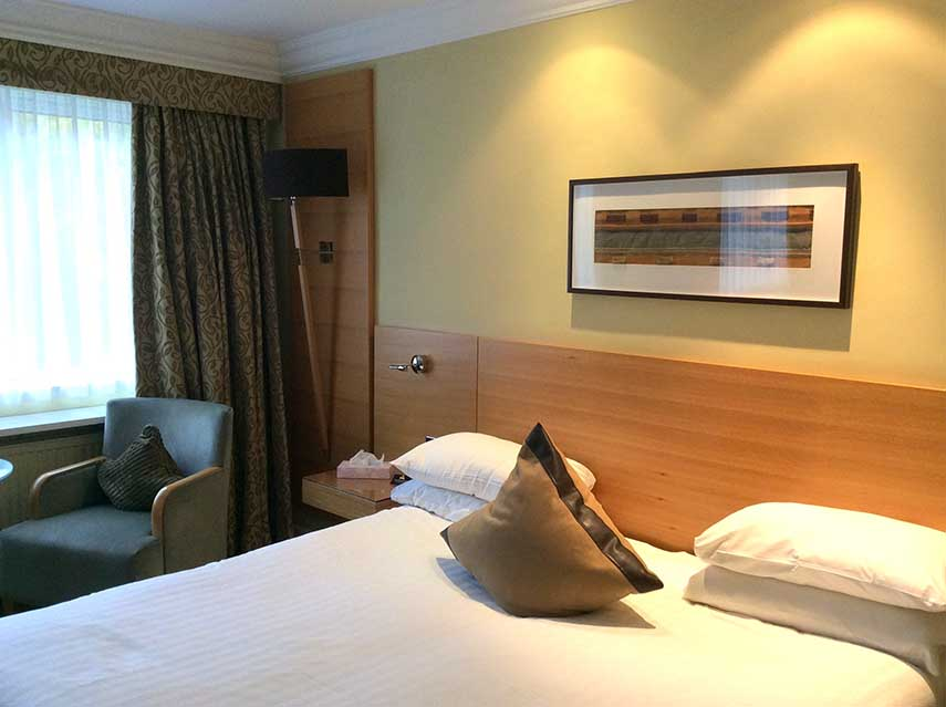 The Welcombe Hotel's Super-King Room; Warwickshire; from a travel blog by www.traveljunkiegirl.com