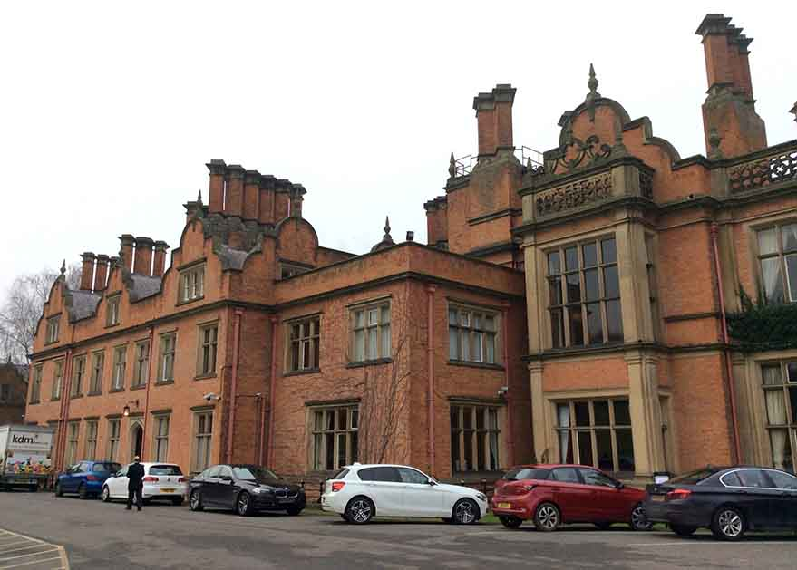 Main Entrance to The Welcombe Hotel and Spa, Stratford, Warwickshire; from a travel blog by www.traveljunkiegirl.com