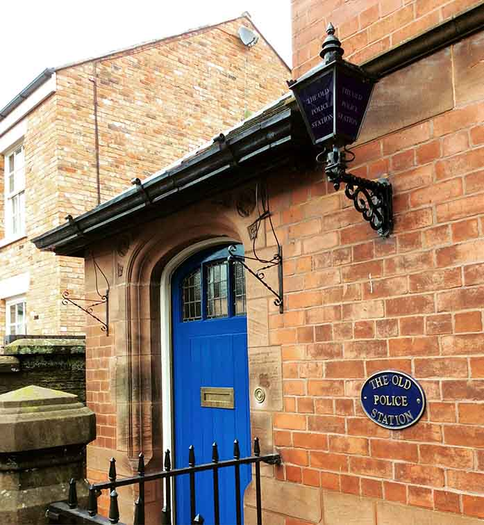 The Old Police Station in Tarporley, Cheshire, UK; from a travel blog by www.traveljunkiegirl.com