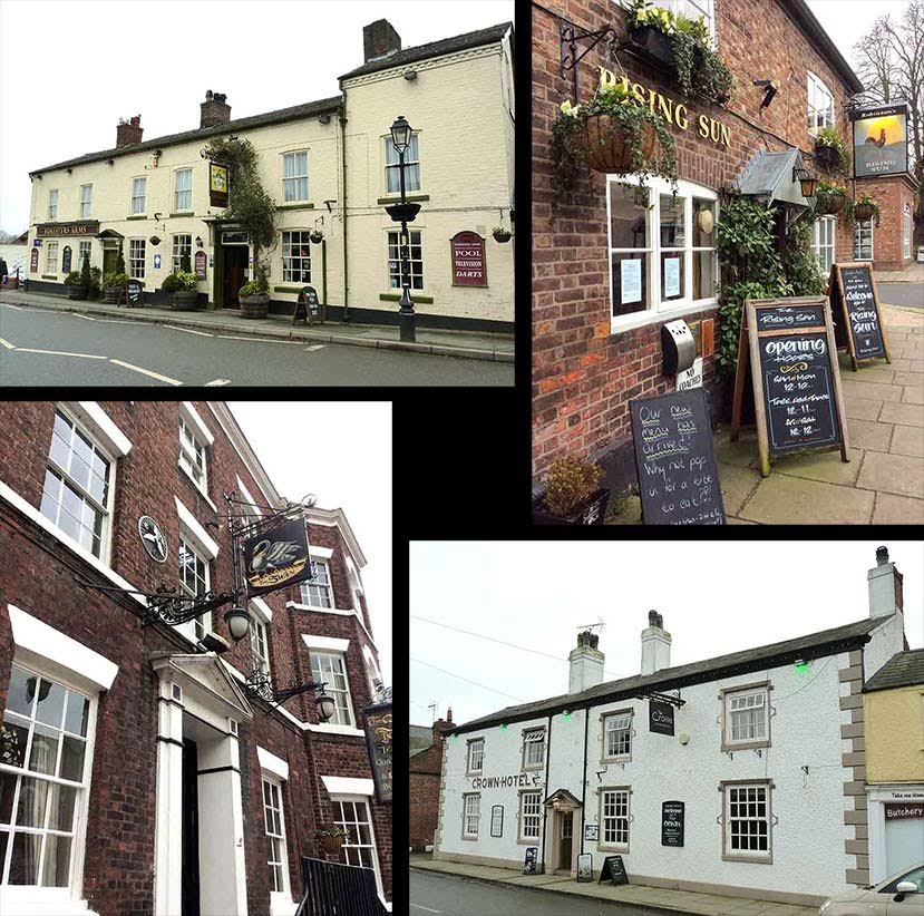 The 4 Pubs in Tarporley, Cheshire, UK; from a travel blog by www.traveljunkiegirl.com